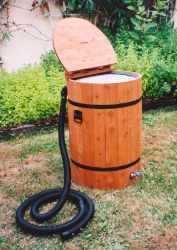 Open Lid Deluxe Rainbarrel