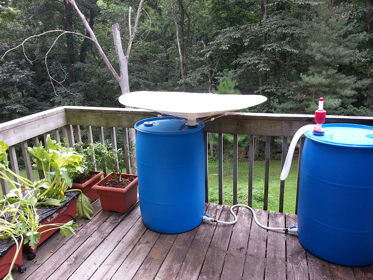 The Rainbarrel Man Rainsaucer