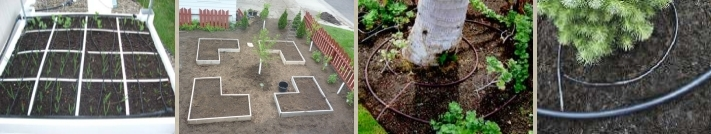 Great for sq. ft. gardening - Irregular shaped garden beds - Around plants and trees - Place around Plants.